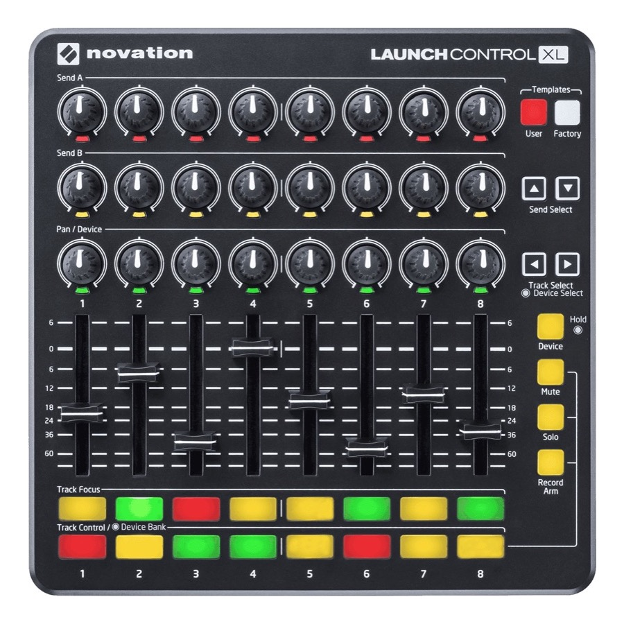 Novation LaunchControl XL 24 pots, 8 faders, 16 pads