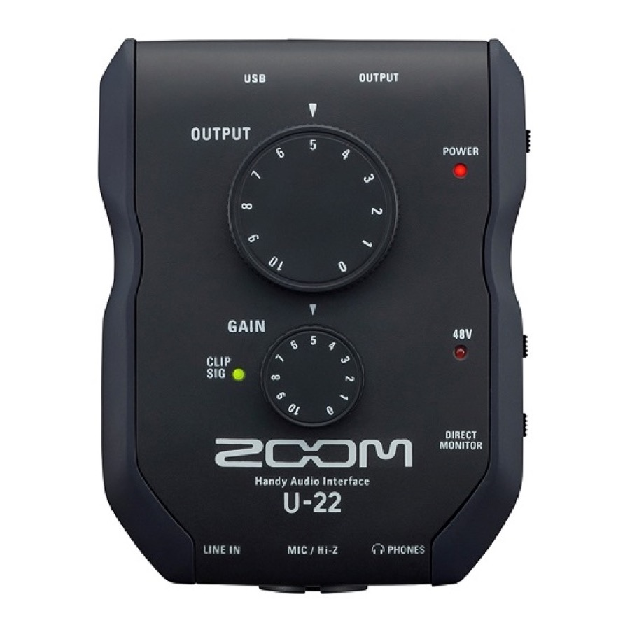 Zoom U 22 The Go Everywhere Audio Interface