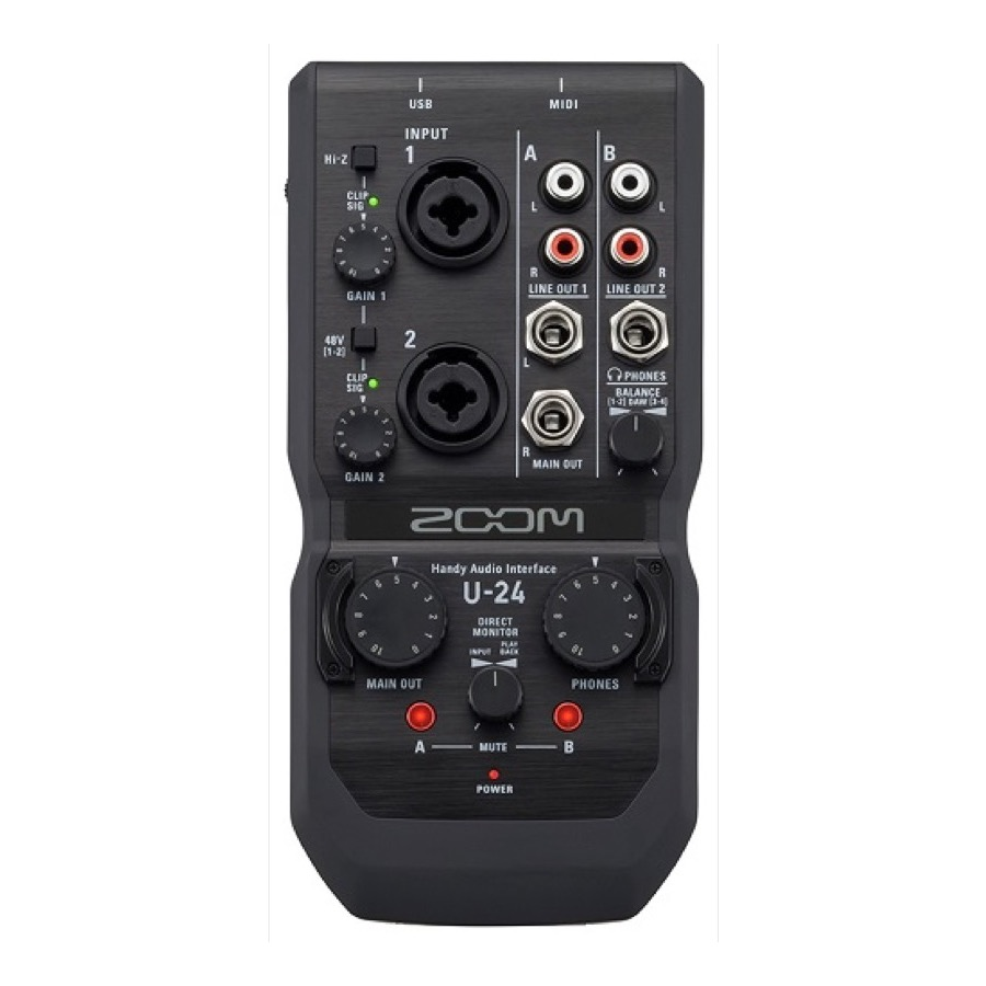 Zoom U 24 2in/4out, Handy Audio Interface