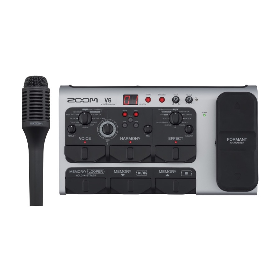 Zoom V 6 - The V6 Vocal Processor SUPERPRIJS AANBIEDING !!
