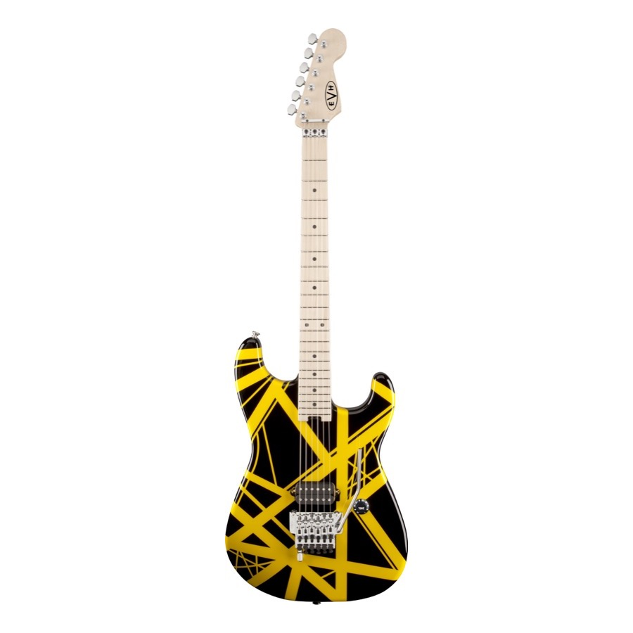 EVH Striped Series Black with Yellow Stripes